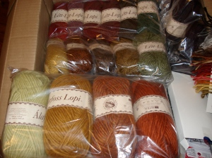Some beautiful Lopi Wool for a sweater and some more for a shawl