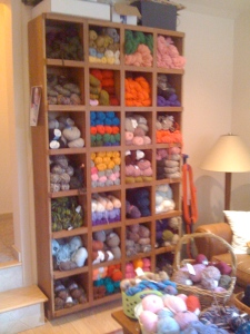 Just some of the yarn she offered at half price