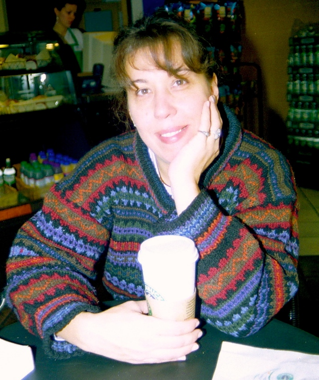 Here I am wearing the Philosopher's Wool sweater I made.