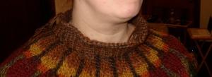 Redone neck line